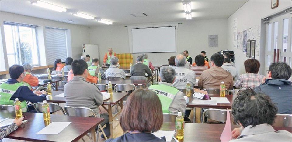 写真:恵み野北町内会 防災対策隊 第2回研修会の様子